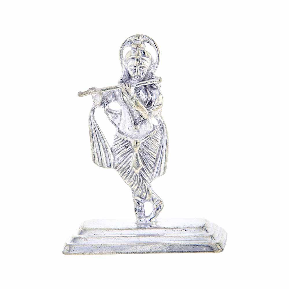 Lord Krishna Silver Idol