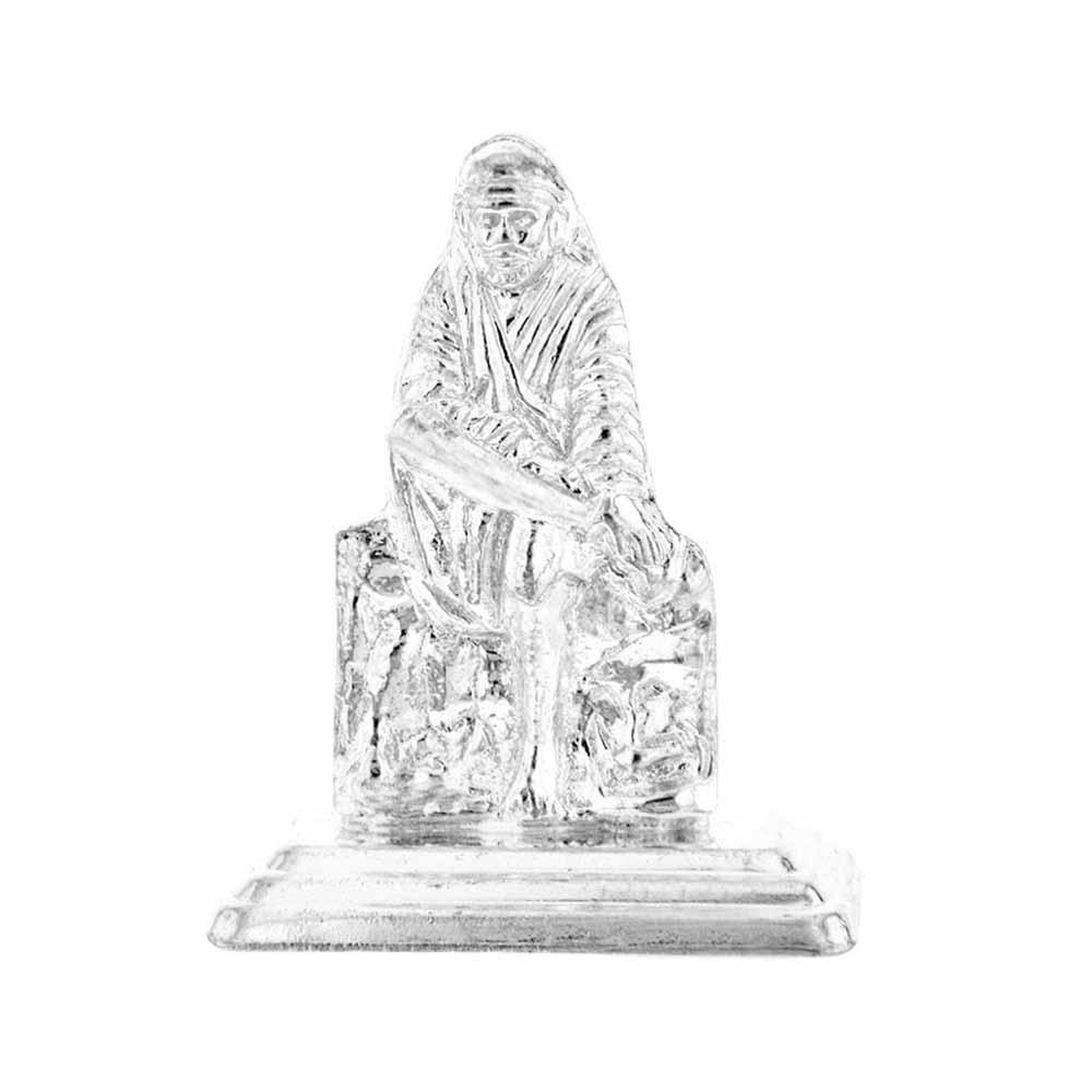 Lord Sai Baba Silver Idol