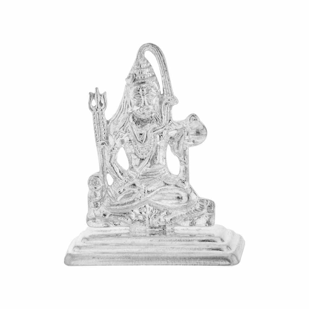 Lord Shiv Silver Idol