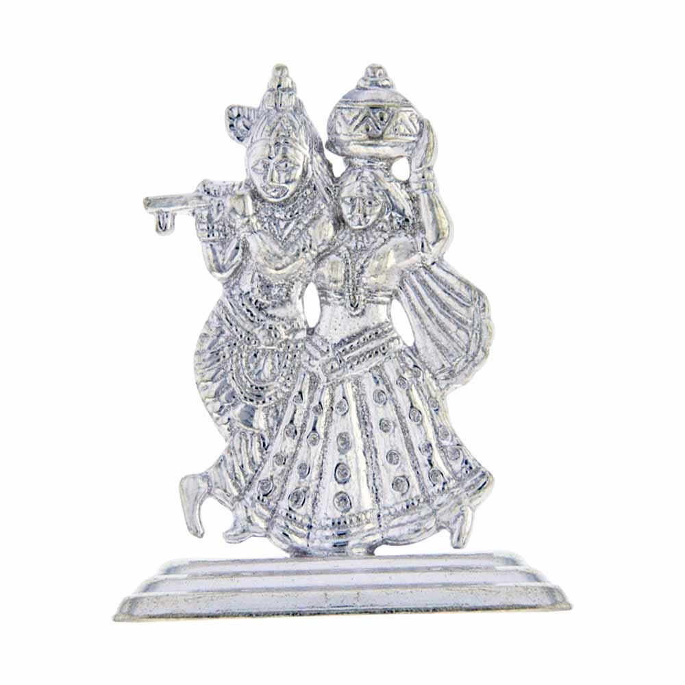 Silver Radha Krishan Idol