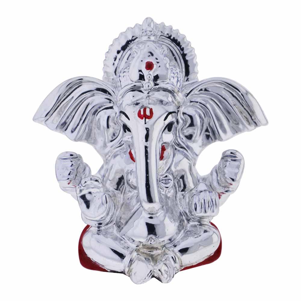 Silver Idols-Holy Ganesh Idol