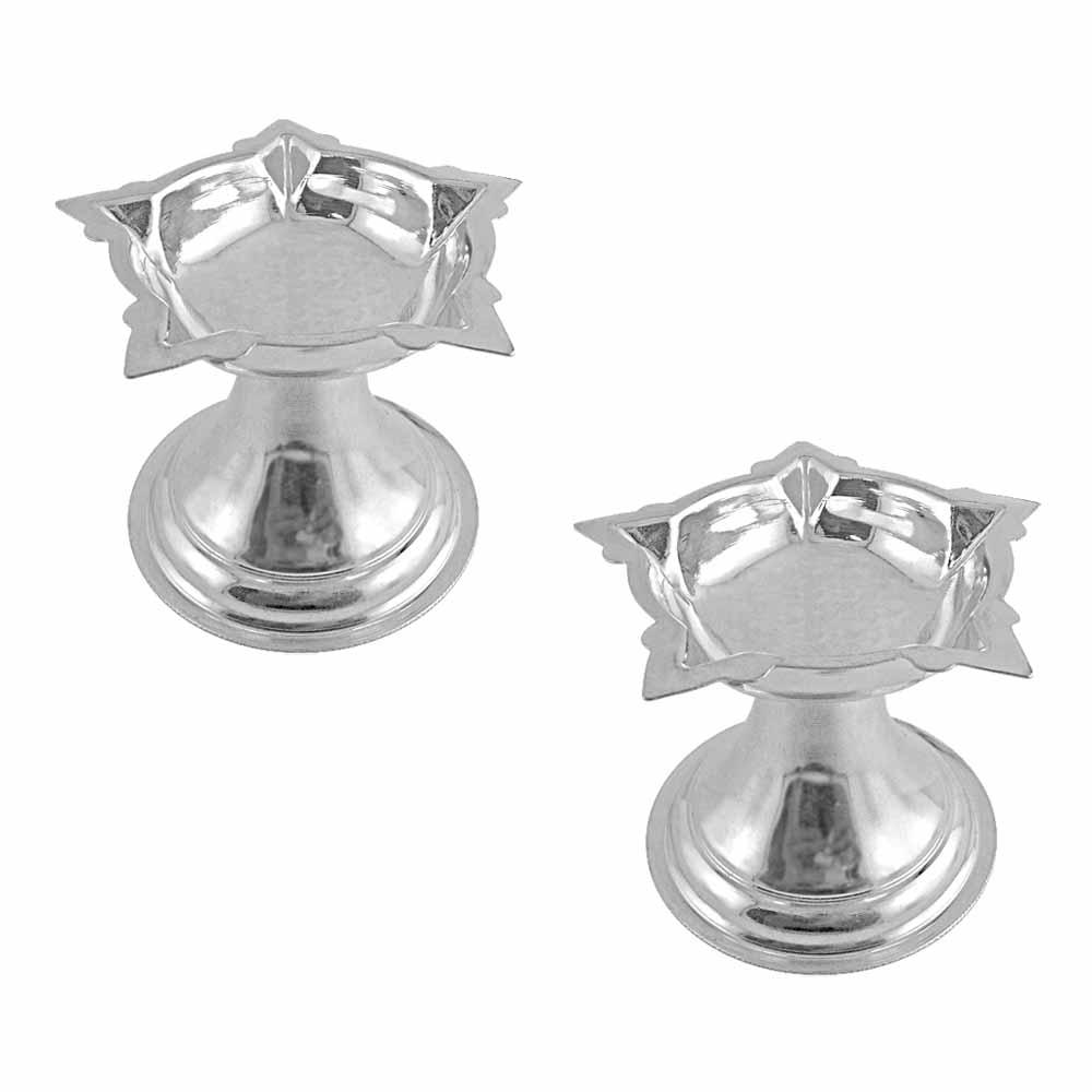 Puja Silver Diyas