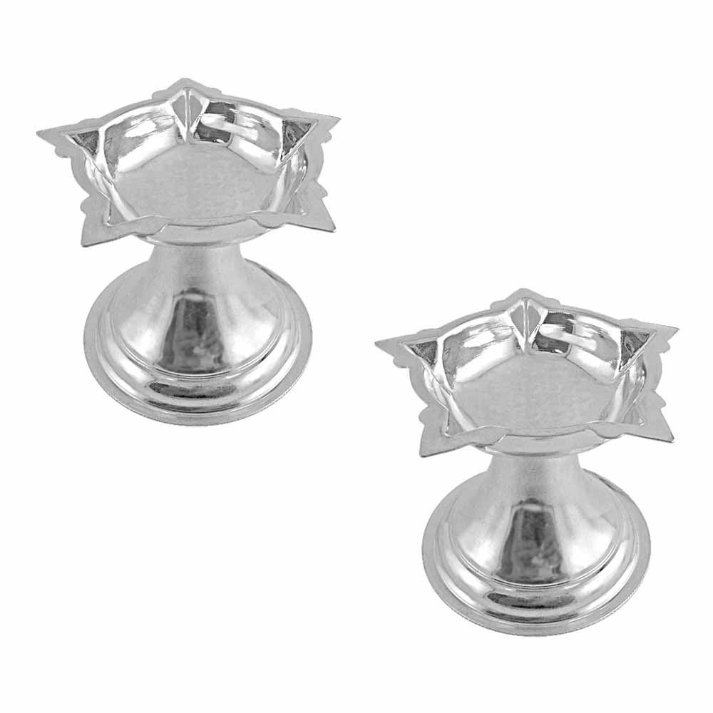 Diyas & Lamps-Puja Silver Diyas