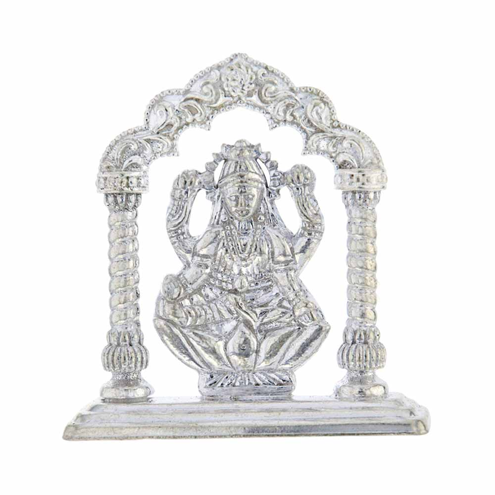 Temple Laxmi Silver Idol