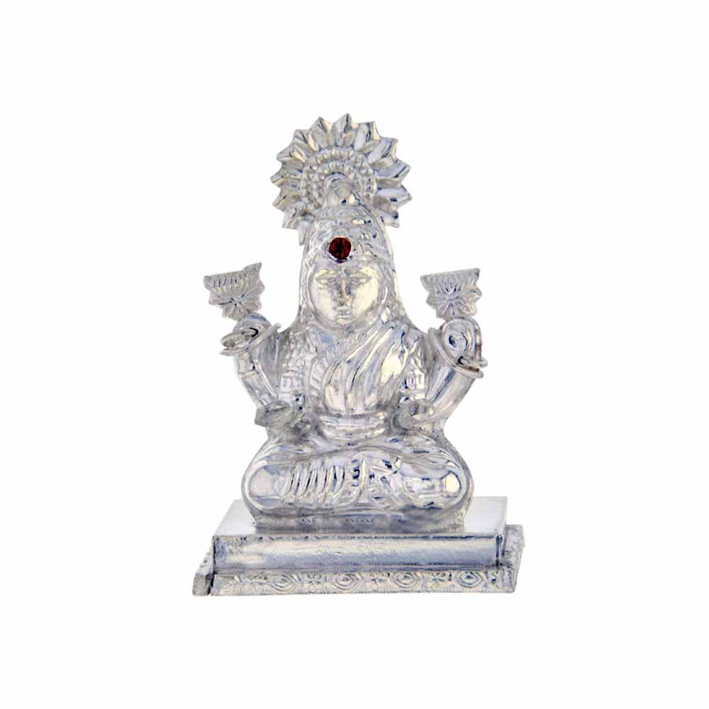 Goddess Laxmi Silver Idol