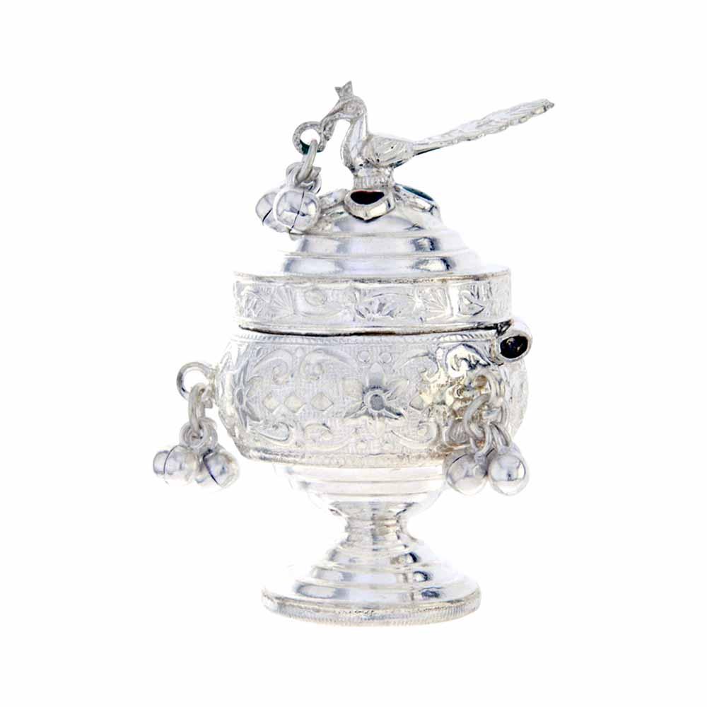 Silver Kum Kum Dabbi