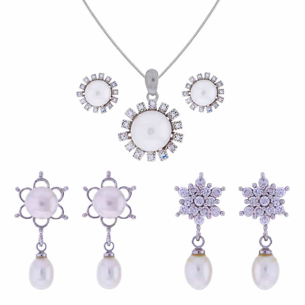 Attractive Cz Pendant Set