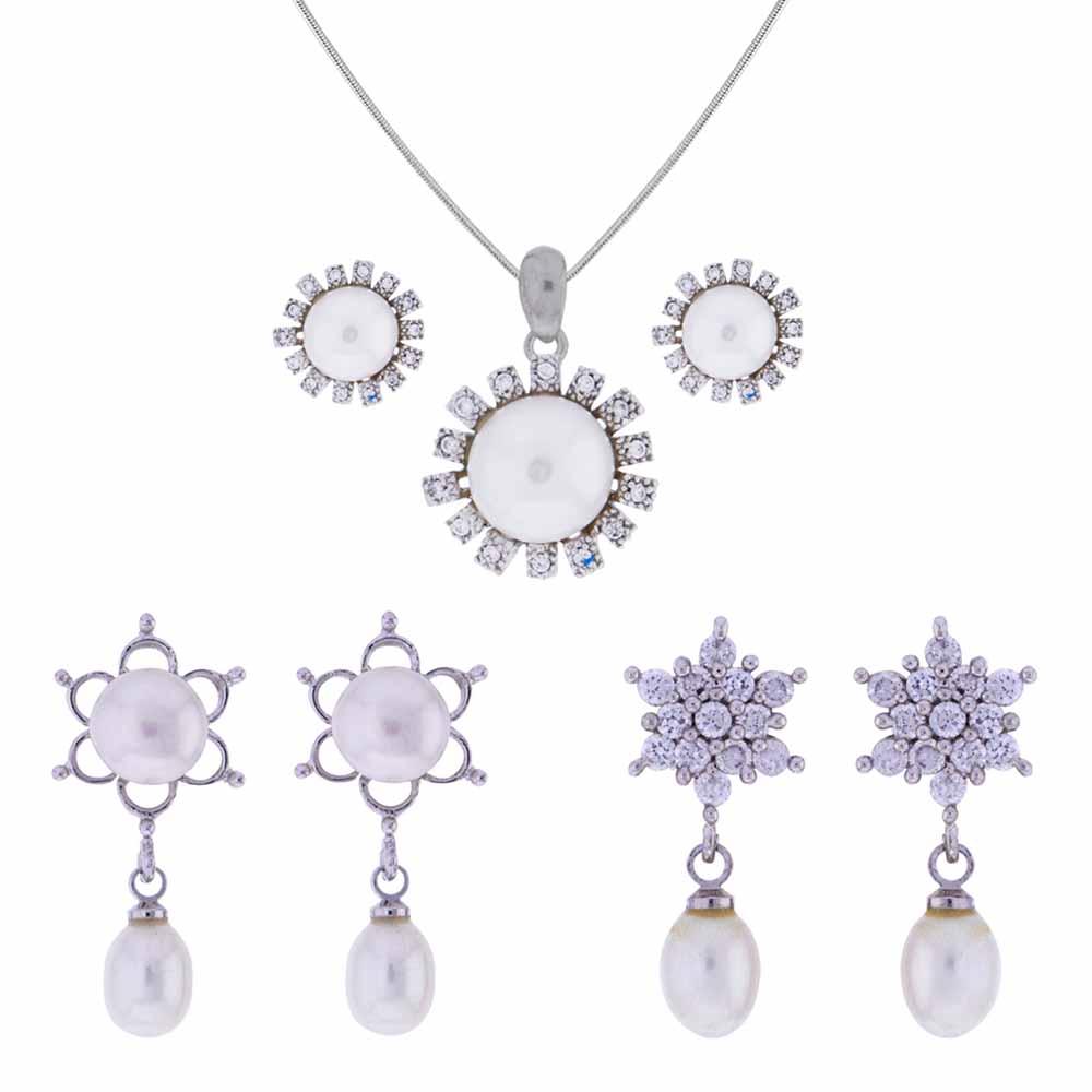 Surat Diamond-Attractive Cz Pendant Set
