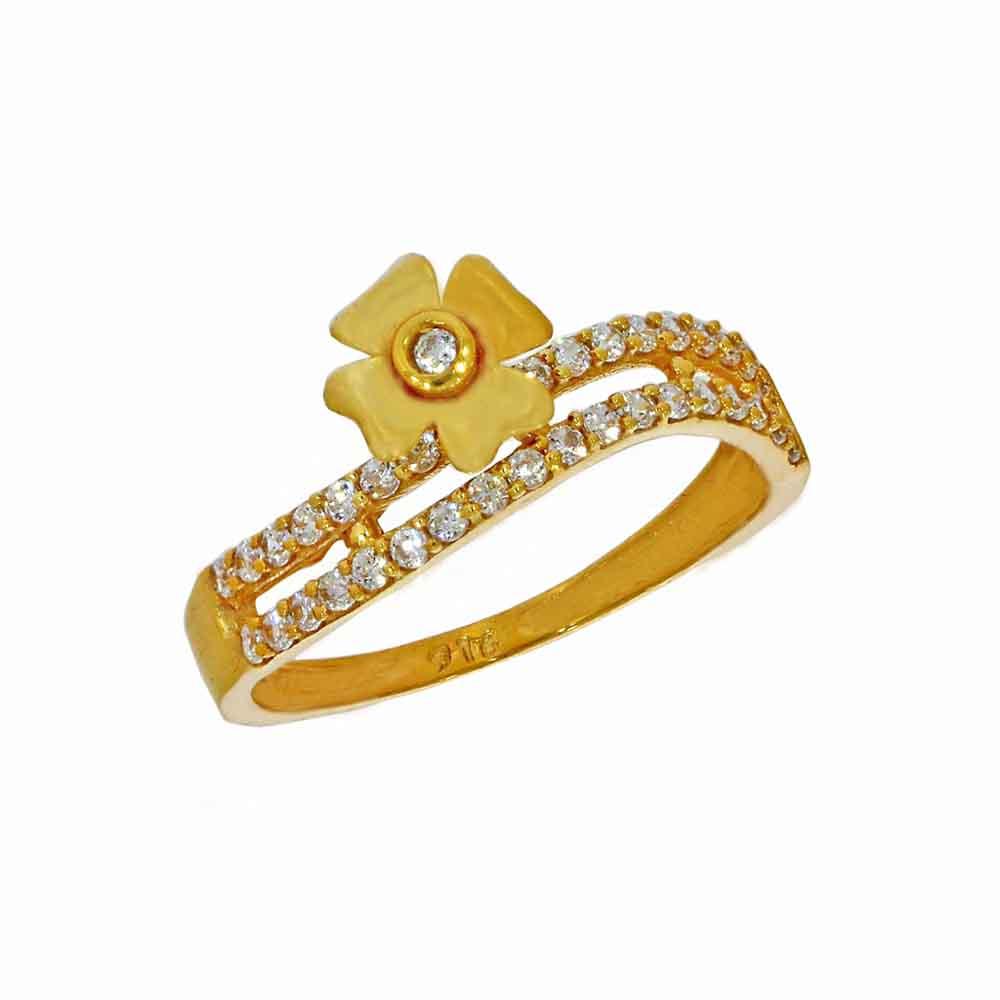 22kt Gold Dazzling Finger Ring