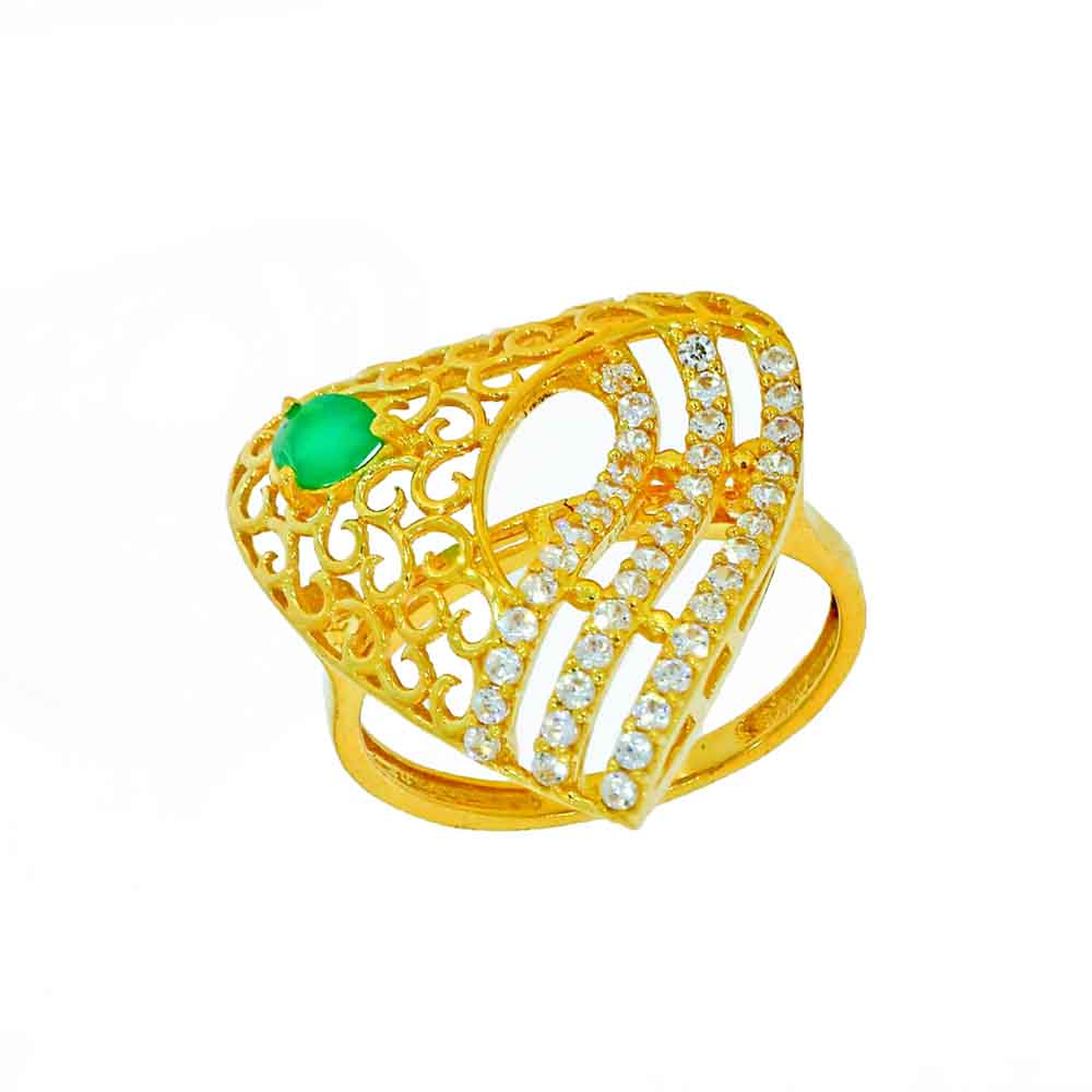22kt Gold Startling Finger Ring