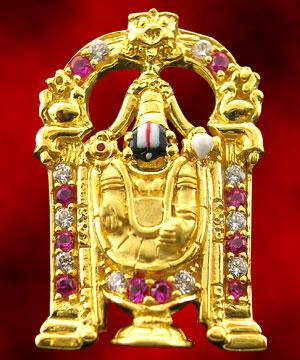 Venkateswara Gold Pendant India