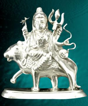 Silver Idols-Durga Idol