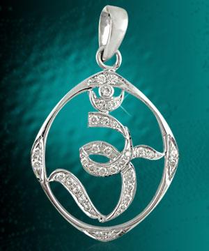 Men's Jewelry-Jagdamba Omkara Diamond Pendant