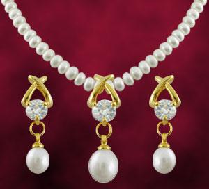 Pearl Sets-Jagdamba Arzina Pearl Set