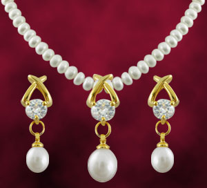 Jagdamba Arzina Pearl Set