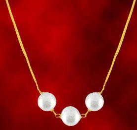 Jagdamba Pearl Gold Chain