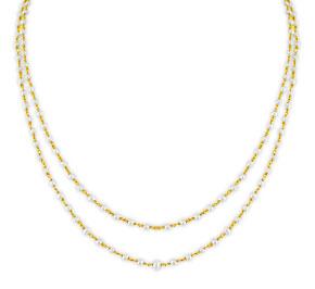 Jagdamba 2 Line Pearl Gold Chain
