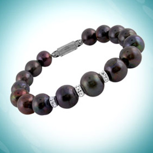 Jagdamba Black Pearl Bracelet
