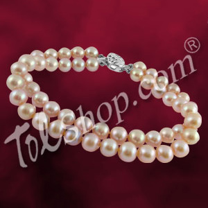 Jagdamba 2 String Pink Pearl Bracelet