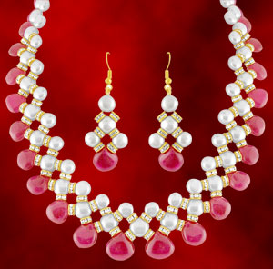 Pearl Necklaces-Jpearls Royal Moti Pearl Set