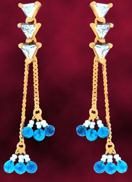 Precious Stone Earrings-Long Earrings