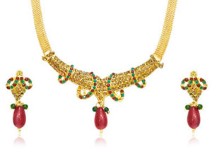 Traditional Rajasthani Necklace & Earrings Set
