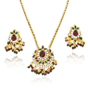Imitation Sets-Pendant Necklace & Earrings Set