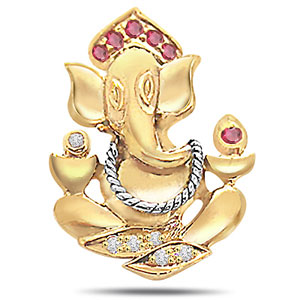 Diamond Ganesha Pendant