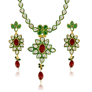 Floral Jodha Akbar Necklace Set
