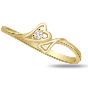 Diamond-Diamond & Gold Ring