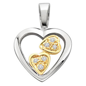 Diamond Pendants-Diamond & Gold Pendant