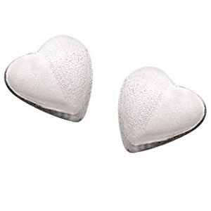 Silver Earrings-Heart Shape Earrings
