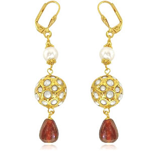 Kundan Earrings-Traditonal Kundan Earrings