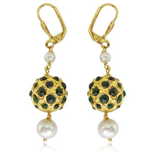 Kundan Earrings-Kundan & Pearl Earrings