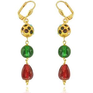 Ethnic Multicolor Kundan Earrings