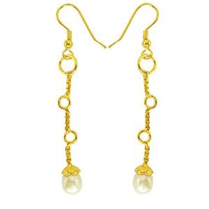 Fancy Freshwater Pearl & Gold Plated Earrings