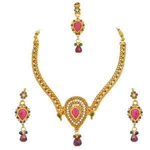 Colored Stone Jewellery Set