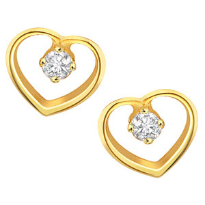 Heart Shaped Diamond Earrings