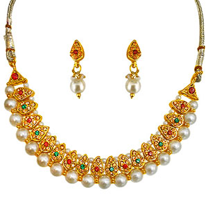 Pearl Sets-Pearl Necklace & Earrings Set