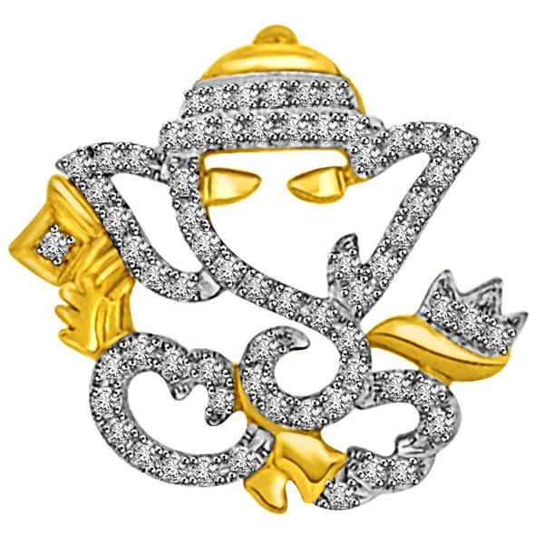 Ganesha Diamond Pendant