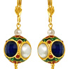Kundan Ball & Shell Pearl Earrings