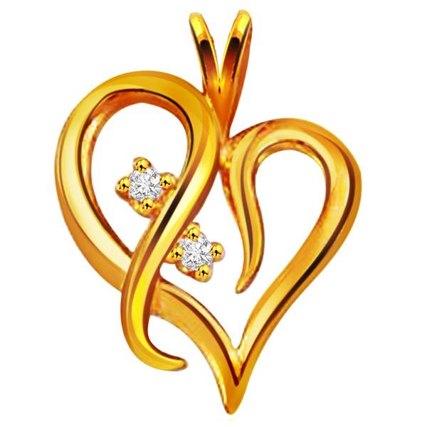Twirly Hearts Diamond Pendant
