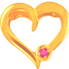 Heart Shaped Gold Ruby Pendant