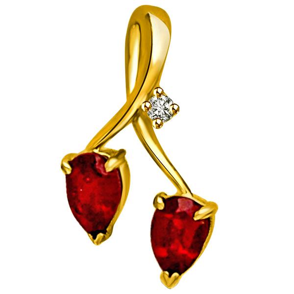 Diamond & Ruby Pendant