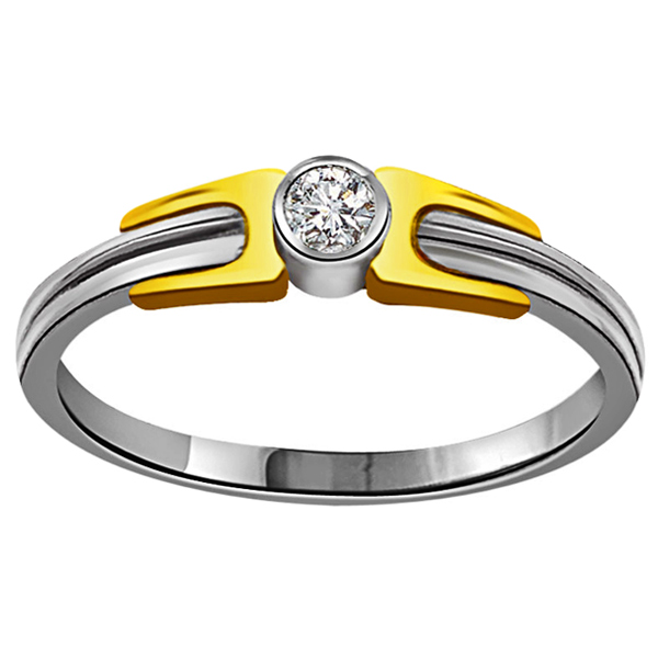 Diamond-Diamond & Gold Ring