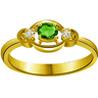 Diamond & Oval Emerald Ring