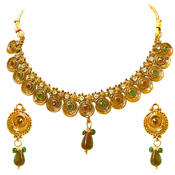 Precious Stone Sets-Necklace & Earrings Set