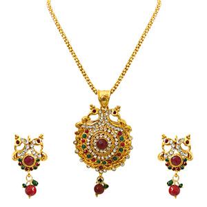 Precious Stone Sets-Pendant Necklace & Earrings Set