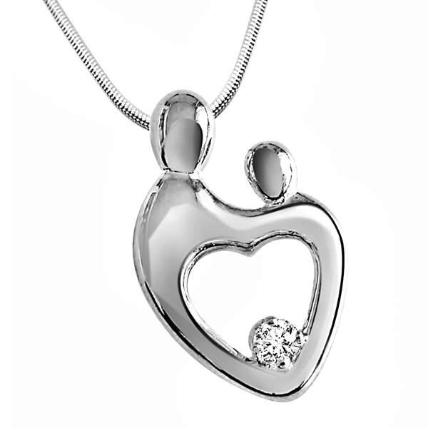 Bond Forever - Diamond & Silver Pendant with Chain