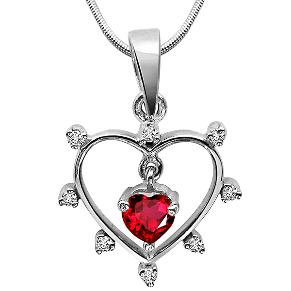 Queen of All Jewels - Diamond & Silver Pendant with Chain